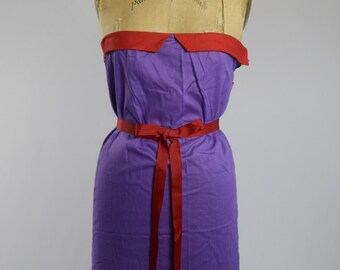 Vintage 70's Purple and Red Tube Dress