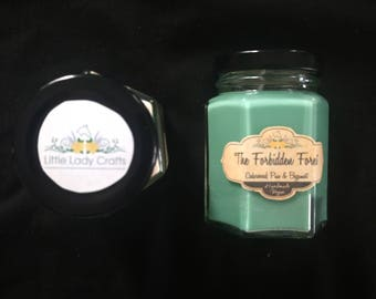 The Forbidden Forest, Cedarwood, Pine and Bergamot Scented Candle