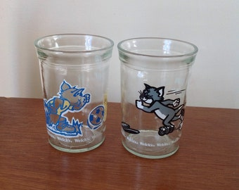 Tom and Jerry Set of 2 Welch's Jars