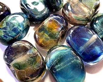 Lampwork Glass Borosilicate Beads COOL BLUES Two Sisters Designs 062018B