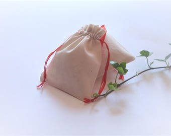 """25 pcs Small Muslin Cotton, Drawstrin Bags, Gift Bags, Small Favor Bags, Jewllery Packaging, Size 3""""x4"""""""