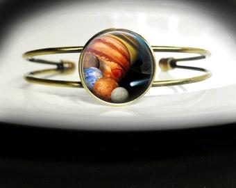 Solar System Bracelet Jewelry Planet Bangle - Solar System Bangle Jewelry - Planet Bracelet Solar System Jewelry - Solar Planet Bracelet
