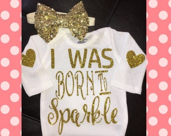 I was born to Sparkle!!!! Onise and bow