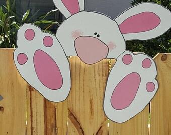 Bunny Fence / Wall Peeker!