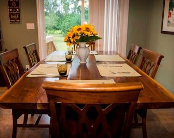 Live Edge Black Walnut Slab Dining Table