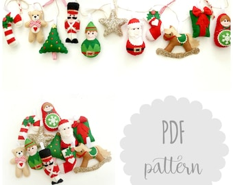PDF kit instructions Santa's Workshop garland