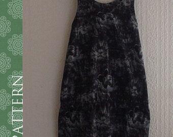 PDF sewing patterns-Women-Scoopneck Dress-Size:XS/S/M (10SW-W-D)