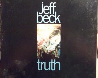 Jeff Beck, Truth, Vintage Record Album, Vinyl LP, Rock and Roll, British Guitarist, Blues Rock, Jazz Fusion, Instrumental Rock Music, Debut