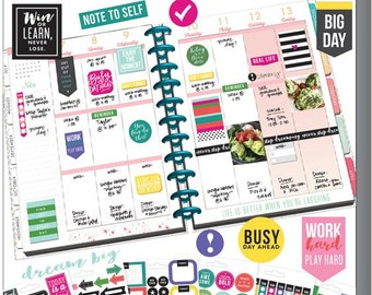 Planner Stickers Create 365 Happy Planner Value Pack Stickers-Everyday Plans-Daily Routines/Check Lists/Vertical/Work Plans/Houseworks