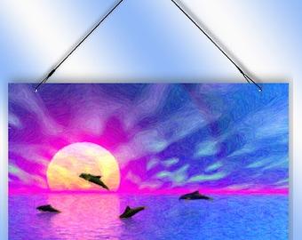 Dolphin Play Decorative Window Sun Catcher from Redeye Laserworks