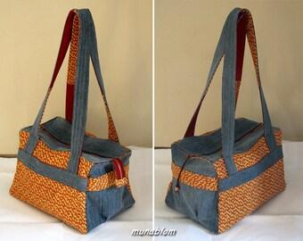 Marika: bag in denim and upholstery fabric