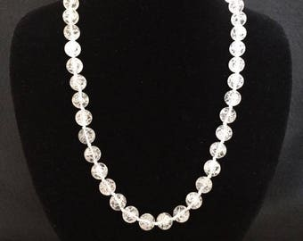Necklace-Crystal Cracked