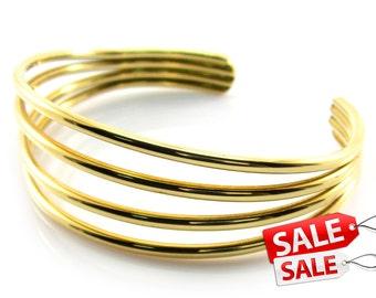 Simple Gold Cuff Bracelet Simple Gold Bracelet Cuff Simple Gold Brass Cuff Bracelet Simple Gold Brass Bracelet Cuff 033