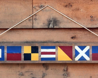 Rustic Nautical wooden sign 'Welcome'