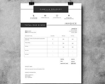 Invoice Template Invoice Design Receipt MS Word Invoice - Ms word invoice template doc kaws online store