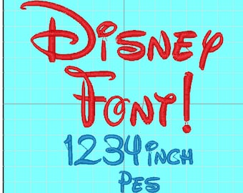 Disney Font Embroidery PES Instant Download