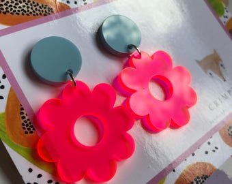 Acrylic Flower Dangles