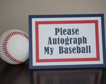 Baseball Sign, Please Autograph My Baseball, Baseball decorations, Baseball Baby Shower, Baseball Birthday, Baseball