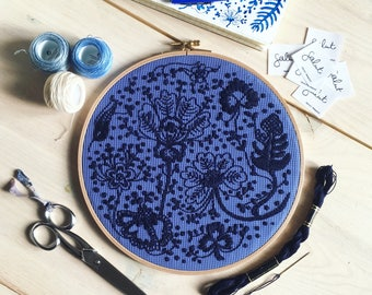 Embroidery - Delft Blue
