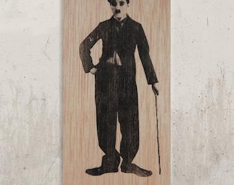 Charlie Chaplin / / Transfer on wood