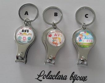 """key cut nail """"thanks AVS"""" by lolaclarabijoux"""