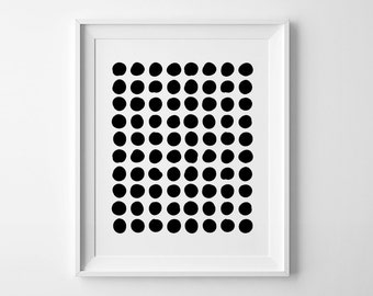 Abstract print, nursery printable wall art, Scandinavian print nursery decor geometric print, abstract wall art, black and white nursery art