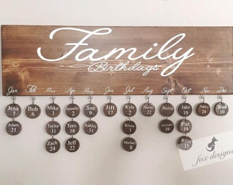Birthday Board, Perfect Gift, Birthday Organizer, Family Keepsake, Birthday calendar, Wood Decor, Birthday Gift Idea, House Warming Gift