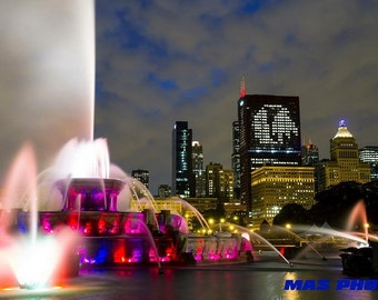Chicago Blackhawks Buckingham Fountain Canvas Wrap Print