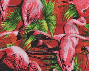 100% Pure Cotton Fat Quarter, Pink Flamingo