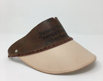 Football Leather Visor, The Candlestick by Old Soul Visors