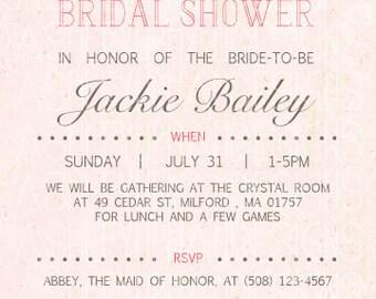 Vintage Bridal Shower Invitation
