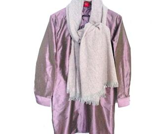 RosaVioleta. Pure Silk. Mother pearl buttons. Handmade. Ribbons inside. cmz collection. cmz