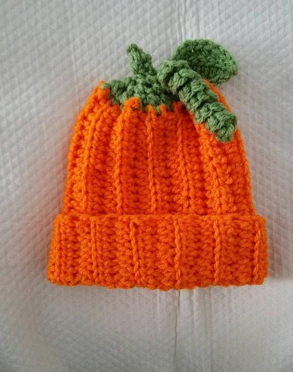 Crochet Infant Baby Pumpkin Hat Pattern Only