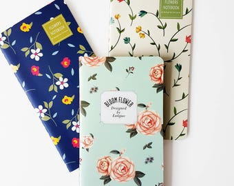 Set of 3 notebooks  - Flowers Bloom