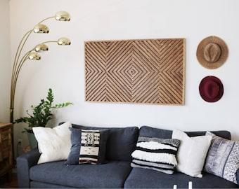 Wood Wall Art, Rustic Wood Art, Wood Art, Geometric Wood Art, Modern Wood Art, Geometric Wall Art, Reclaimed Wood Art