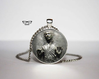 Han Solo Frozen In Carbonite Necklace, Star Wars pendant, Han Solo necklace, Art Gifts, for Her, for him