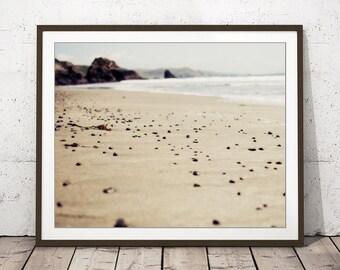 Coastal Wall Art, California Beach, Beach Print, Neutral Wall Art, Beach Photograph, Brown Beige Taupe Decor, Seashore Print - All This Time