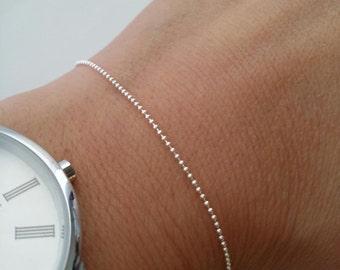 Beads - simple bracelet - 925 silver bracelet chain bracelet silver chain 925/000 - thin bracelet