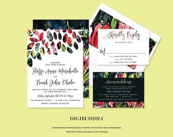 Wedding Invitation Suite Modern Printable, Invitation Suite Modern Weddings, Colorful Invitation Suites Wedding,