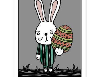 Funny Easter Egg / Easter Bunny Humor - GingerDead Goth / Alt Greeting Card 5 PACK  w/ Envelopes