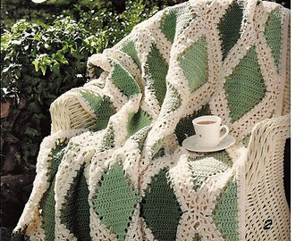 Casual Mix Afghan Crochet Pattern Book Leisure Arts 2794