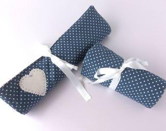 Knitting Needle Roll Crochet Hook Roll - Demin Blue - Knitting Case, Needle Holder, Gift for Knitter, Present,