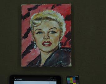 Marilyn Monroe with black satin jacket