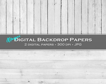 White Wooden Boards - Digital Backdrops / Backgrounds - 12x12, CU4CU - Instant Download