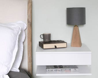 Good Floating Bedside Table   Large