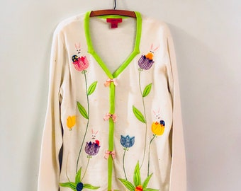 Vintage Ugly Easter Bunny Sweater