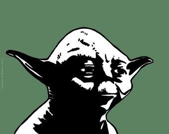 Yoda from Star Wars Art Print