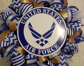 Airforce wreath, Air Force wreath, Airforce wreaths, Air force wreaths, Air Force, Gifts for Airforce, Support your troops, Fourth of July
