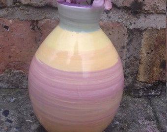 Bright spring vase.  Multi coloured