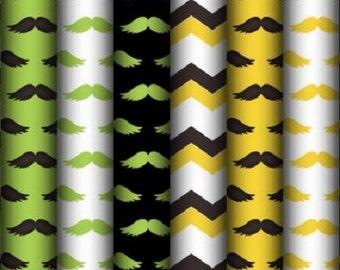 DIGITAL SCRAPBOOKING CLIPART - Moustache Backgrounds 3
